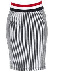 Thom Browne Ribbed Striped Skirt - Blue