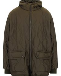 Barena Quilted Elasticated Cuff Jacket - Green