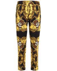 Moschino Teddy Bear Printed Straight-leg Trousers - Yellow