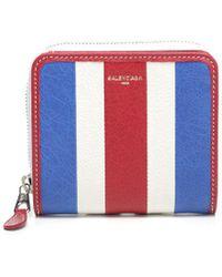 Balenciaga - Striped Wallet - Lyst