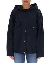Woolrich Tickseed Hooded Jacket - Blue