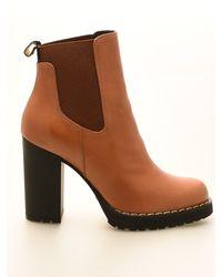 Hogan Block Heel Ankle Boots - Brown