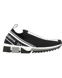 Dolce & Gabbana Sorrento Sneakers With Fusible Crystals - Black