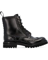 Church's Studded Lace-up Boots - Black
