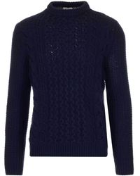 Woolrich Ribbed Knit Pullover Sweater - Blue