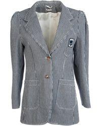 Miu Miu Striped Blazer - Blue