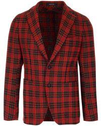 Tagliatore Houndstooth Check Tailored Blazer