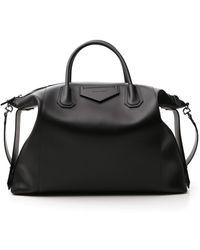 Givenchy Antigona Soft Xl Bag In Smooth Leather - Black