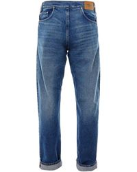 Burberry Reconstructed Relaxed Fit Jeans - Blue