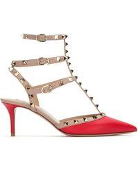 Valentino Valentino Garavani Rockstud Ankle Strap Pumps - Red