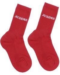 Jacquemus Rib-knit Mid-calf Socks - Red