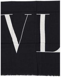 Valentino Monochrome Vltn Scarf - Black