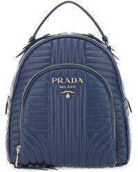 Prada Leather Backpack - Blue