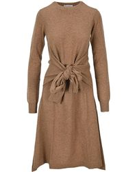 JW Anderson Bow Knit Dress - Brown