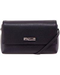 Longchamp Roseau Shoulder Bags - Black