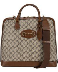 Gucci 1955 Horsebit Duffle Bag - Natural