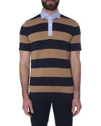 Brunello Cucinelli Striped Polo Shirt - Blue