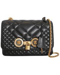 0237fcf7 Versace Leather Shoulder Bag in Black - Lyst