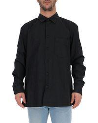 Issey Miyake Buttoned Crepe Shirt - Black
