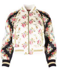Gucci Floral Print Bomber Jacket - Multicolour