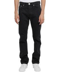 Lanvin Logo Patch Slim Cut Jeans - Black