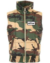 ef4d9d36e1c8 Lyst - Off-White C O Virgil Abloh Canvas Jacket With Hood in Green ...