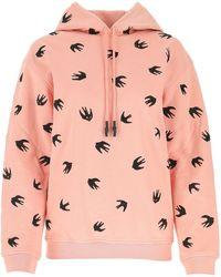 McQ Swallow Hooded Sweatshirt - Pink