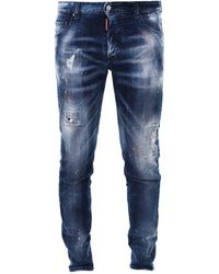 DSquared² Distressed Skinny-fit Jeans - Blue