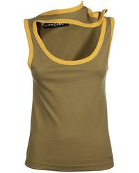 Y. Project Round Neck Vest - Green