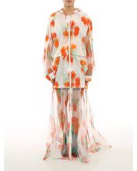 KENZO Coquelicot Floral Print Windbreaker - Orange