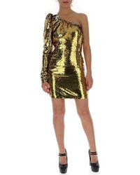2b07304a487f Amen Off Shoulder Sequin Dress in Green - Lyst