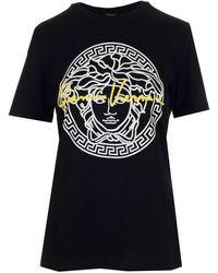 Versace Gv Signature Medusa T-shirt - Black