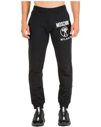 Moschino Logo Print Track Pants - Black