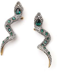 Gucci Crystal Embellished Snake Earrings - Multicolour