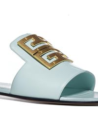 Givenchy 4g Buckle Sandals - Blue