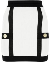 Balmain Two-tone Viscose Mini Skirt Nd - Multicolour