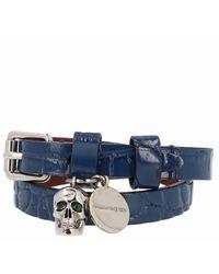 Alexander McQueen - Skull Pendant Studded Bracelet - Lyst