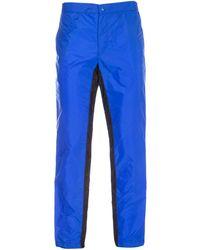 Prada Panelled Drawstring Pants - Blue