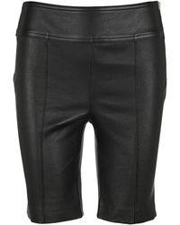 Helmut Lang Leather Bike Shorts - Black