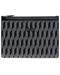 AU DEPART Reflective Jacquard Clutch Bag - Black