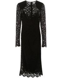 Dolce & Gabbana Lace Dress - Black
