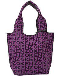 KENZO Tote Monogram Bag - Purple