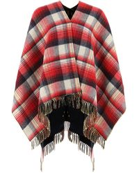 Gucci Reversible GG Poncho - Red