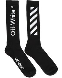 Off-White c/o Virgil Abloh Diagonal Mid-length Socks - Black
