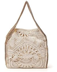 Stella McCartney Mini Crochet Falabella Shaggy Deer Bag - Natural
