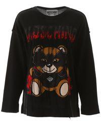 Moschino Bat Teddy Bear Jumper - Black