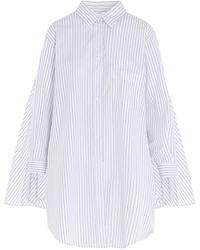 MM6 by Maison Martin Margiela Cape Back Striped Shirt - White