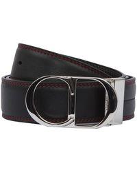 Dior Homme - Dup Red Stitched Logo Buckle Belt - Lyst