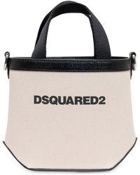 DSquared² Logo Print Mini Tote Bag - White