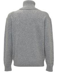 Off-White c/o Virgil Abloh Embroidered Logo Turtleneck Jumper - Grey
